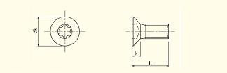 Flat Head 6-Lobe Machine Screw