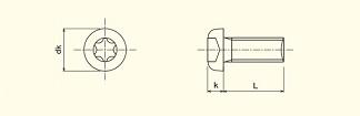Pan Head 6-Lobe Machine Screw
