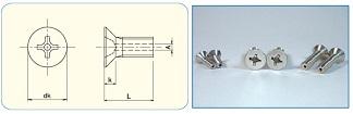 Cross Recess Flat Head Machine Screw