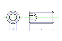 Hex Socket set Screws Flat Point | SAIMA CORPORATION