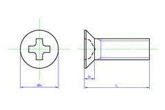 Cross Recess Flat Head Machine Screws | SAIMA CORPORATION