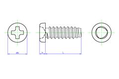 Type 1 Pan Head Tapping Screws Thread Form B | SAIMA CORPORATION
