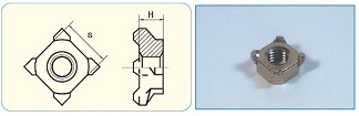 Square Weld Nut JIS Type 1D
