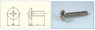Cross Recess Truss Head Machine Screw (Mushroom head)