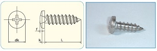 -SAIMA- Cross Recess Binding Head Tapping Screw Class1,Type A [JIS B1122 Appendix]