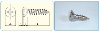 -SAIMA- Cross Recess Oval Head Tapping Screw Class1,Type A [JIS B1122 Appendix]