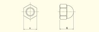 Titan Domed Cap Nut, JIS type 3-2 JIS B1111