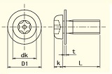 PIN-PAN HEAD<br>6-LOBE MACHINE SCREWS(FW)