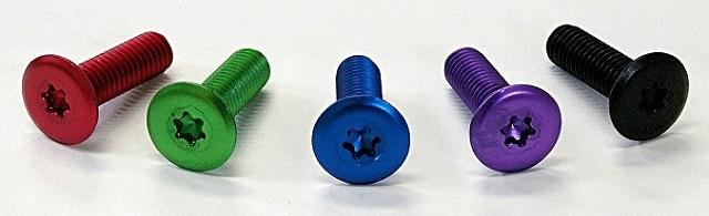 超極低頭ねじ スリムヘッドスクリュー -彩- アルマイト処理を施した5色のねじ