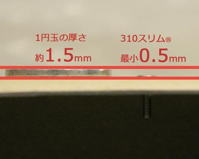 省スペースねじ(ボルト)と1円玉 横から | サイマコーポレーション